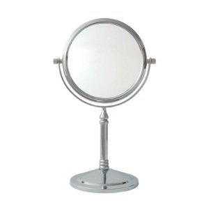 Espelho de Aumento Dupla Face com Base Panther PTH326-6 6 Polegadas