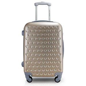 Mala de Viagem ABS Feminina Dourada (Love) Jacki Design - APT17367