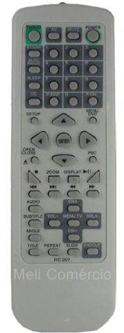CONTROLE REMOTO DVD CCE - RC207 TELEVISOR / TVD2101 / TVD2901 / TVD291