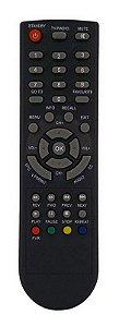 CONTROLE REMOTO RECEPTOR CONVERSOR DIGITAL AQUÁRIO DTV-8000