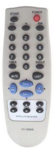 CONTROLE REMOTO RECEPTOR VISIONTEC VT200 / VT300 / VT700 / VT1000 / VT2000