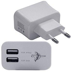 CARREGADOR USB DUPLO FEITUN 3100MA