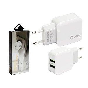CARREGADOR USB 2 PORTAS SHINKA 2.4A