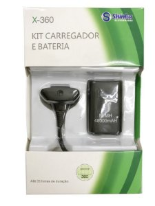 KIT CARREGADOR + BATERIA PARA CONTROLE XBOX 360