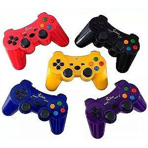 CONTROLE SEM FIO 2,4GHZ PS1 PS2 PS3 PC RECARREGÁVEL