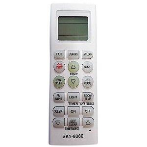 CONTROLE REMOTO PARA AR CONDICIONADO SKY-8080