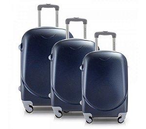 Conjunto de Malas de Viagem Azul 3 Peças (Select) Jacki Design - APT18639 (APT17361)