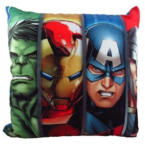 Almofada Fibra Veludo 40x40cm Quarteto Avengers