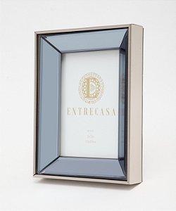 Porta Retrato em MDF Moldura Espelhada Chanfro Detalhe Textura 13x18cm 8758 - Entrecasa