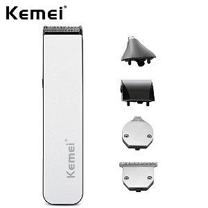 Kit Máquina de Cabelo Aparador de Pelos Kemei Multifuncional 5 in 1 -KM-3590