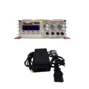 Mini Módulo Amplificador Som LE-702 + Fonte 12v