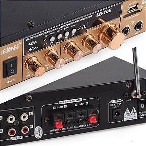 Mini Módulo Amplificador Som Rádio Lelong - LE-705