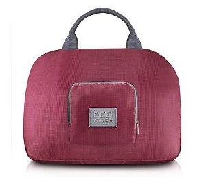Bolsa de Viagem Dobrável Jacki Design - ARH18689  Cor:Vinho