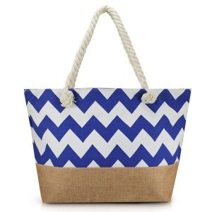 Bolsa de Praia Jacki Design - AFM19759 Cor:Azul/Marrom