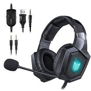 Fone de Ouvido Professional Gaming Headset Onikuma K8 Cor:Preto RGB