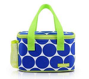 Bolsa Térmica Dots Jacki Design - AHL19850 Cor:Azul