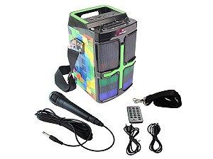 Caixa de Som 20W Portátil Bluetooth Grasep D-D01 Estampa Quadrados