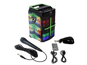 Caixa de Som 20W Portátil Bluetooth Grasep D-D01 Estampa Goal