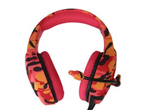 Fone de Ouvido Professional Gaming Headset Onikuma K1-B Cor:Vermelho Cammo