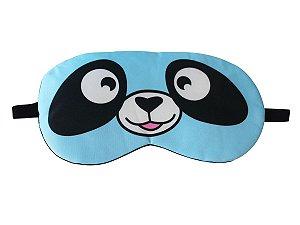 Máscara de Gel Térmico para Descanso Panda Cor:Azul Claro