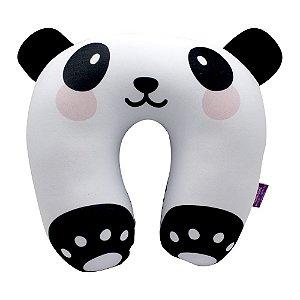 Almofada Pescoço Micropérolas Panda - Zona Criativa