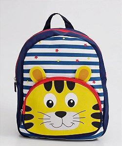 Mochila Escolar Infantil Listrada Clio Pets Tigre - CP2108P