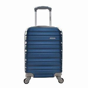 Mala de Bordo Azul ABS Rígida 18 com Rodinhas 360 Yin's - YS21026A