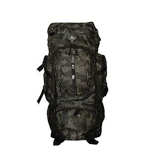 Mochila Camping Camuflado Escuro 50 Litros Clio - MC9171