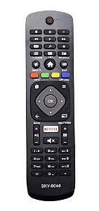 CONTROLE REMOTO TV SMART PHILIPS COM TECLA NETFLIX / SKY-8049