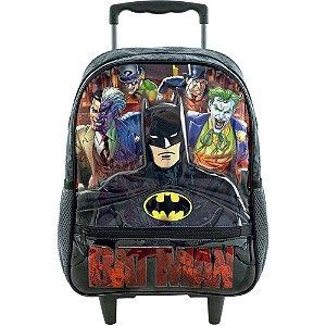 Mochila Escolar com Rodas 14' Batman Danger Xeryus - 8841