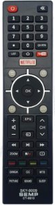 CONTROLE REMOTO TV LCD LED SMART SEMP TOSHIBA SKY-9009