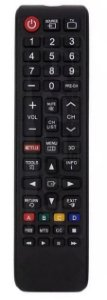 CONTROLE REMOTO TV LED SMART SAMSUNG COM NETFLIX / 3D