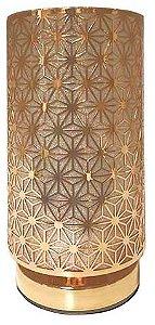 Abajur de Metal Tubo Dourado Mod.04 BIVOLT 40W - AL55016