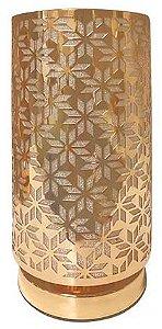 Abajur de Metal Tubo Dourado Mod.01 BIVOLT 40W - AL55016