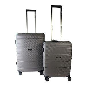 Conjunto de Malas de Viagem 2 Peças c/ TSA e Roda 360 Cinza Swissland - YS21050C