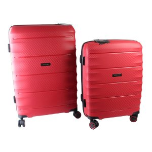 Conjunto de Malas de Viagem 2 Peças c/ TSA e Roda 360 Vermelho Swissland - YS21050V