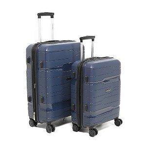 Conjunto de Malas de Viagem 2 Peças com Expansor e Roda 360 Azul Swissland - YS21058A