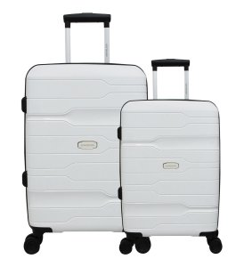 Conjunto de Malas de Viagem 2 Peças com Expansor e Roda 360 Branco Swissland - YS21058B