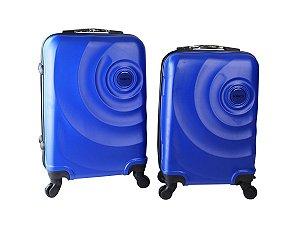 Conjunto de 2 Malas de Viagem ABS com Roda 360 Yin's Azul - YS21061A