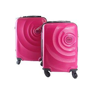 Conjunto de Malas de Viagem 2 Peças ABS com Roda 360 Yin's Rosa - YS21061RO