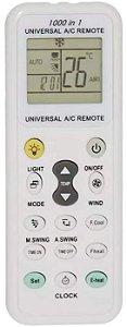 CONTROLE REMOTO AR CONDICIONADO UNIVERSAL C/ LUZ LED LE-7429