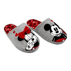 Chinelo para Quarto Mickey & Minnie G 39/41 Zona Criativa - 10071198