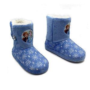 Pantufa Bota Infantil Frozen G 32/34 Zona Criativa - 10071237