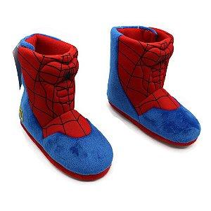 Pantufa Bota Infantil Spider Man (Homem-Aranha) P 26/28 Zona Criativa - 10071231