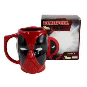 Caneca Formato Deadpool Face 3D 400ml Zona Criativa - 10023046