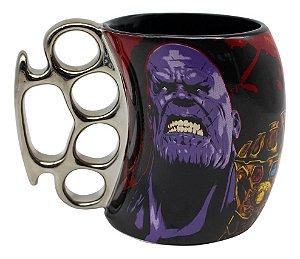 Caneca Soco Inglês Thanos Avengers 350ml Zona Criativa - 10023085
