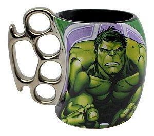 Caneca Soco Inglês Hulk Avengers 350ml Zona Criativa - 10023087