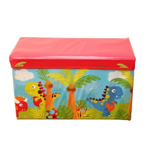 Caixa Puff Organizadora Infantil Dobrável 60x30x30CM Dino Casita - CA20005