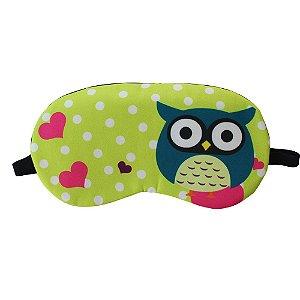 Máscara de Gel Térmico para Descanso Estampa Coruja Verde - XD356194