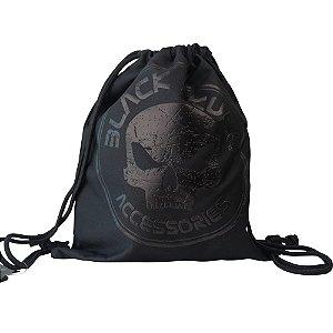 Mochila Sacola Esportiva Black Skull Clio Preto - BS2193